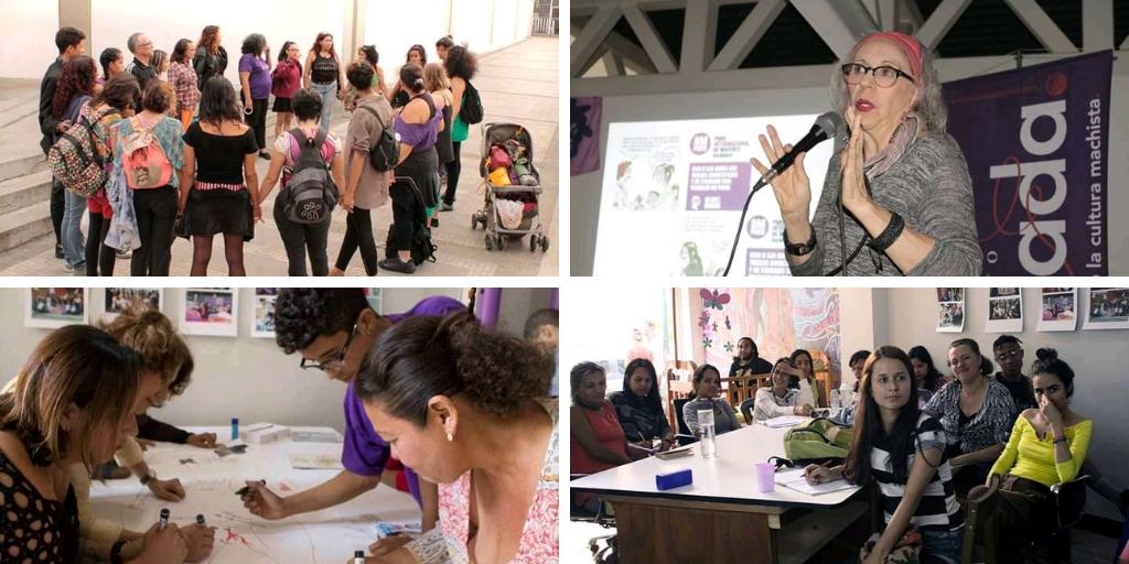 Amada and other Tinta Violeta initiatives for the prevention of machista violence. (Tinta Violeta)