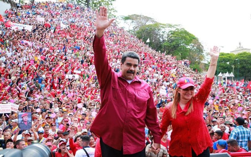 Maduro comemorates the advances of worker's rights achieved through the Organic Law of Work and Workers (LOTTT) on May Day 2018 (Credit:  Venevision)