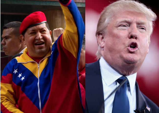 politics donald trump hugo chavez video