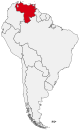 Map Venezuela in Latin America