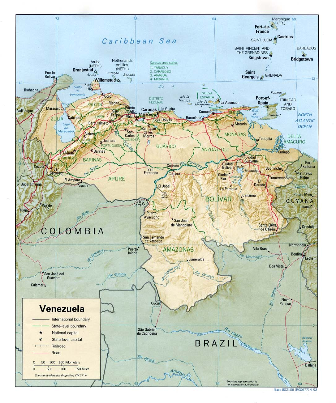 Basic facts on venezuela venezuelanalysis map venezuela sciox Images