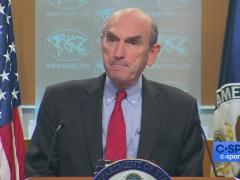 White House envoy for Venezuela Elliott Abrams defended Washington's Venezuela sanctions on Wednesday. (C-Span)