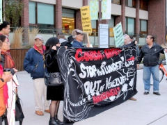 Activists Outside Lima Group Meeting in Toronto