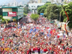 Thousands took to the streets of Caracas in commemoration of International Workers' Day and in support of President Nicolas Maduro