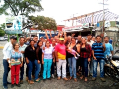 The campesinos of La Magdalena, Merida state, hours after being released from jail