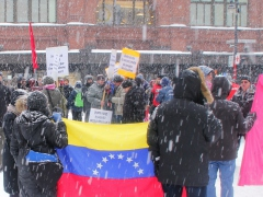 Hands off Venezuela rally in Montreal, Canada