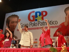 Maduro alongside his allied parties in the Great Patriotic Pole (GPP)