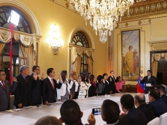 President Maduro swears in his new cabinet at Miraflores Palace