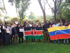 Kenya:  Students And Activists In Nairobi Support Venezuelan People