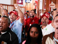 Venezuelan workers brought proposals to President Maduro during a televised meeting