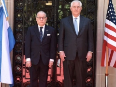 US Secretary of State Rex Tillerson with his Argentine counterpart, Jorge Faurie,