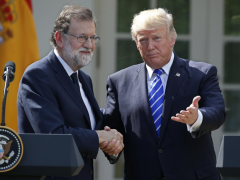 Mariano Rajoy and Donald Trump