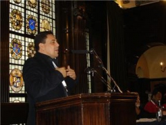 Venezuelan Ambassador to the UK, Samuel Moncada addressing the conference.