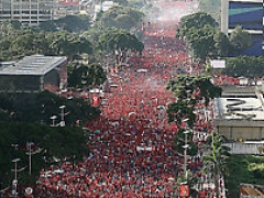 Rally in support of President Chavez's constitutional reform (ABN)