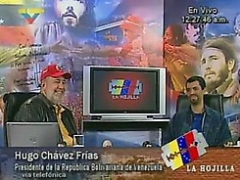 "The political commentary and satire show ""The Razorblade"" on Venezuelan state TV."