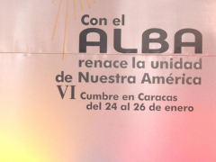 """With ALBA the Unity of our America is Reborn"" (AFP)"