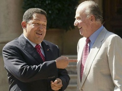 President Chávez and King Juan Carlos I of Spain mended fences during an hour-long visit on the Mallorca archipelago Friday morning. (EFE)