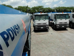The state oil company PDVSA would create a transport company to distribute gasoline.