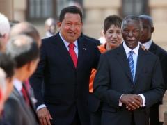 Venezuelan President Hugo Chavez and South African President Thabo Mbeki