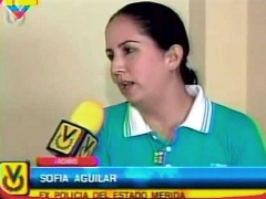 Former police officer Sofia Aguilar, who was stripped, beaten, and nearly raped during violent student protests in 2006 (VTV).