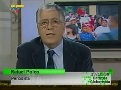 Newspaper editor Rafael Poleo, who is accused of inciting the assassination of President Hugo Chavez. (VTV/Globovisión)