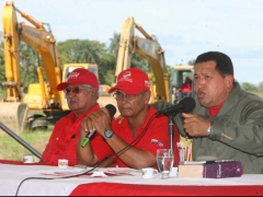President Chavez during the inauguration of a new airport in his home state of Barinas (PP/Feliciano Sequera)