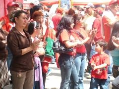 Rally in Merida to celebrate 10 years of the Chavez government. (Tamara Pearson/Venezuelanalysis.com)