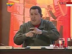 President Chavez during his Sunday program Alo Presidente (VTV)