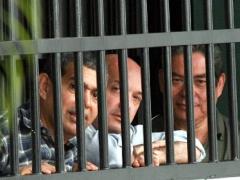 The convicted police captains, Henry Vivas, Lazaro Forero and Ivan Simonovis (Archive)