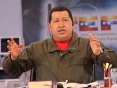President Chavez during his presidential talk show on Sunday (ABN)