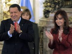 Venezuelan President Hugo Chavez and Argentine President Cristina Fernandez de Kirchner (agencies)