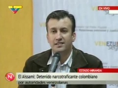 Justice Minister El Aissami speaking about the capture on national television (VTV)