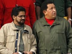 Venezuelan President Hugo Chavez with Farc member Ivan Marquez in 2007 (Archive)