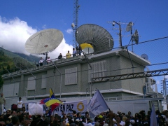 The Globovision building in Caracas (Guillermo Ramos Flamerich)