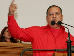 """Minister Diosdado Cabello in the National Assembly on Thursday"" (ABN)"