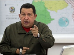 President Chavez speaking on national television on Tuesday night (Prensa Presidencial)