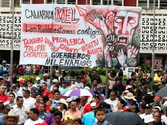 Thousand of Hondurans protested against the coup on July 11 (Alex Guzman/ABN)