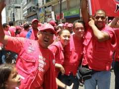 The march in support of the Education Law on Saturday (Aporrea)