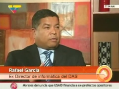 Ex DAS director of information technology, Rafael Garcia, in the interview with TeleSUR (VTV)