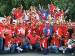 Socialist Worker's Vanguard campaigning at the Puerto La Cruz refinery, Anzoategui (VOS)