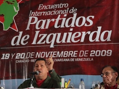 President Chavez addresses Conference of Left Parties (ABN)