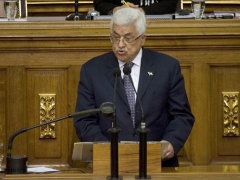 Palestine National Authority President Mahmoud Abbas in the Venezuelan National Assembly (YVKE)