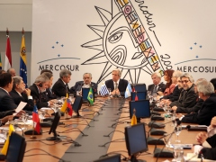 Heads of state and representatives at the MERCOSUR summit on Tuesday (YVKE)