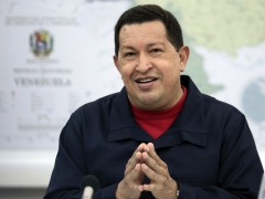 President Hugo Chavez explains the bank nationalizations (ABN)