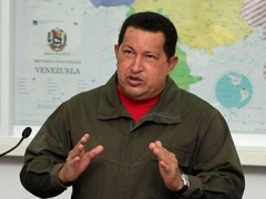 Venezuelan President Hugo Chavez during his address to the nation, Friday (YKVE Mundial)
