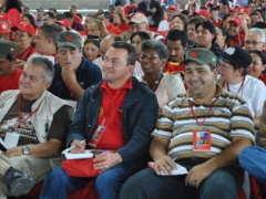 Delegates to the extraordinary congress of the United Socialist Party of Venezuela (PSUV)