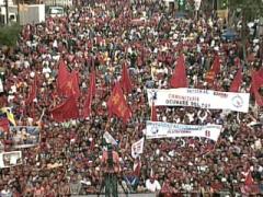 Pro-revolution students rally in Venezuela, Friday (VTV)