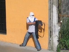 An opposition protestor in Merida last Monday (anonymous).