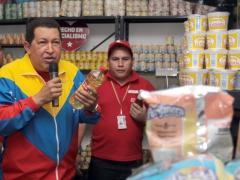 President Chavez in the Biceabasto of Antimano (Prensa Presidencial)