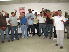 Workers from various private domestic gas companies (Aporrea)